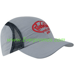 Micro Fiber and Mesh Sports Cap with Reflective Trim