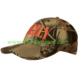 Leaf Print Camouflage Brushed Cotton Hat