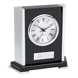 Polished Wood Desk Clock
